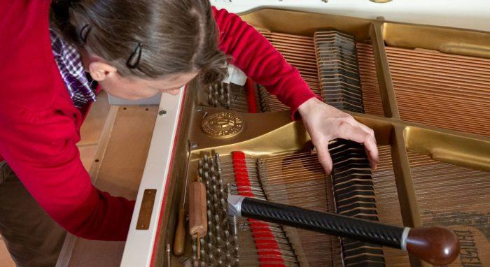 Agnès Musique réglage piano à queue-étouffoirs